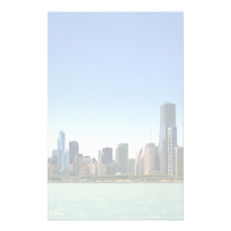 View of Chicago skyline by Lake Michigan Stationery