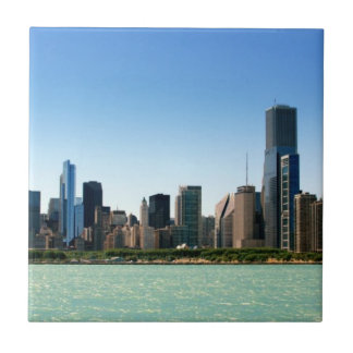 View of Chicago skyline by Lake Michigan Tile