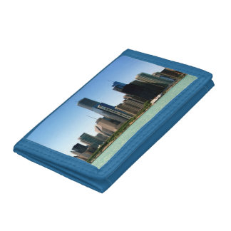 View of Chicago skyline by Lake Michigan Trifold Wallet