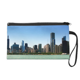 View of Chicago skyline by Lake Michigan Wristlet
