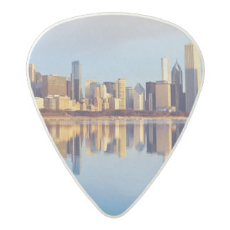 View of Chicago skyline with reflection Acetal Guitar Pick