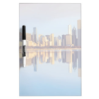 View of Chicago skyline with reflection Dry Erase Board