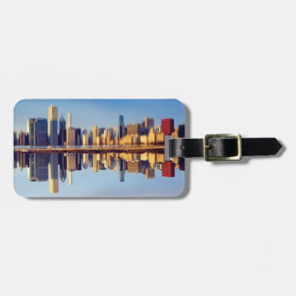 View of Chicago skyline with reflection Luggage Tag