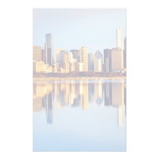 View of Chicago skyline with reflection Stationery
