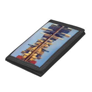 View of Chicago skyline with reflection Trifold Wallets