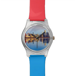 View of Chicago skyline with reflection Watch