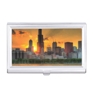 View of Chicago's skyline from  Adler Business Card Holder