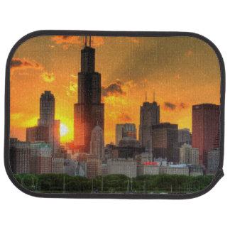 View of Chicago's skyline from  Adler Car Mat
