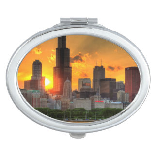View of Chicago's skyline from  Adler Compact Mirror