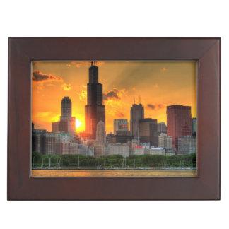 View of Chicago's skyline from  Adler Keepsake Box