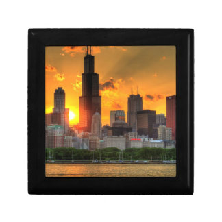 View of Chicago's skyline from  Adler Small Square Gift Box