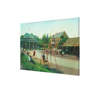View of Children's Playground at Golden Gate Canvas Print