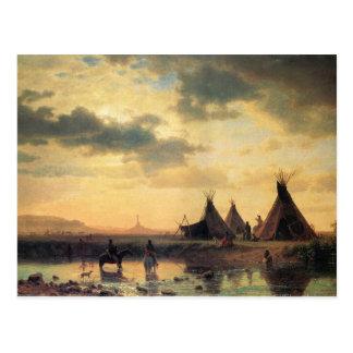 View of Chimney Rock by Albert Bierstadt Postcard