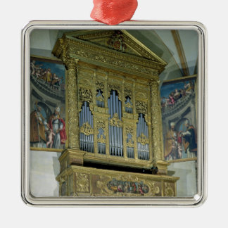 View of church organ, c.1590 christmas ornament