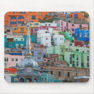 View of city buildings mouse mat