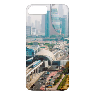 View of city metro line and skyscrapers iPhone 8 plus/7 plus case