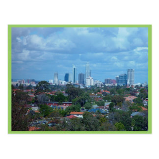 View Of City Of Perth From A Dog Swamp Hilltop Post Card
