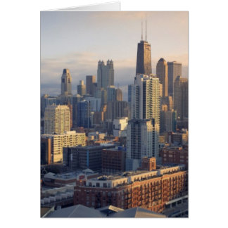 View of cityscape with fantastic light card