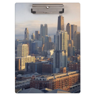 View of cityscape with fantastic light clipboard