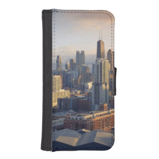 View of cityscape with fantastic light iPhone SE/5/5s wallet case