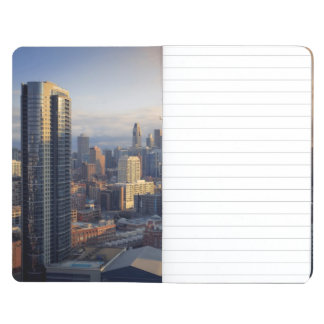 View of cityscape with fantastic light journals