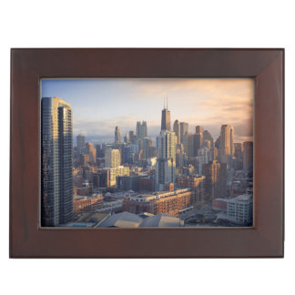 View of cityscape with fantastic light keepsake boxes