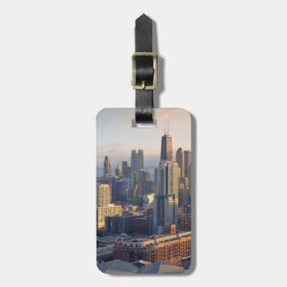 View of cityscape with fantastic light luggage tag