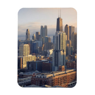 View of cityscape with fantastic light magnet