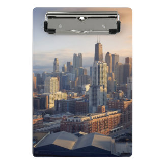 View of cityscape with fantastic light mini clipboard
