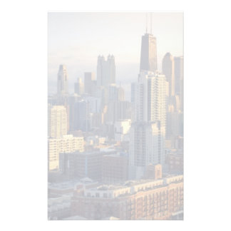 View of cityscape with fantastic light stationery