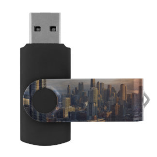 View of cityscape with fantastic light USB flash drive