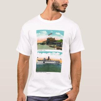 View of Cliff Beach Bath House T-Shirt