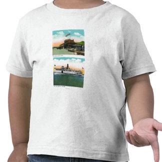 View of Cliff Beach Bath House Tee Shirts