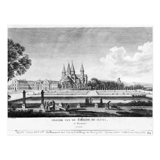 View of Cluny Abbey Post Cards