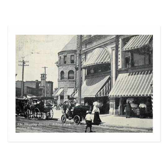 View of Cookman Ave., Asbury Park NJ Vintage Postcard