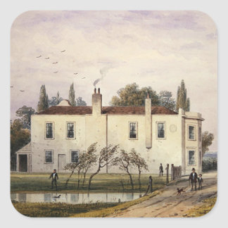 View of Copenhagen House, 1853 Square Sticker