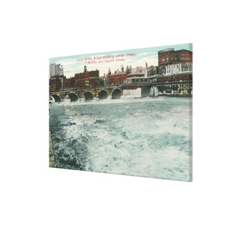View of Court Street Bridge Showing Lehigh Stretched Canvas Prints