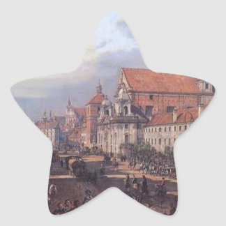 View of Cracow Suburb leading to the Castle Square Star Sticker