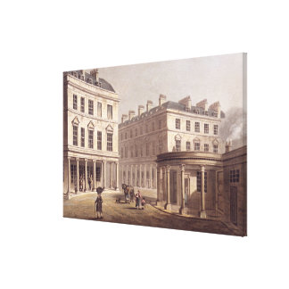 View of Cross Bath, Bath Street, from 'Bath Illust Canvas Print