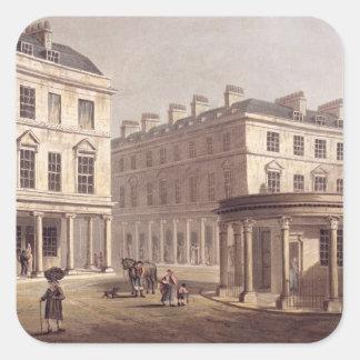 View of Cross Bath, Bath Street, from 'Bath Illust Square Sticker