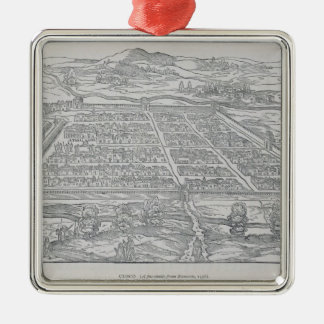 View of Cusco, from Ramusio, pub. 1556 Christmas Ornament