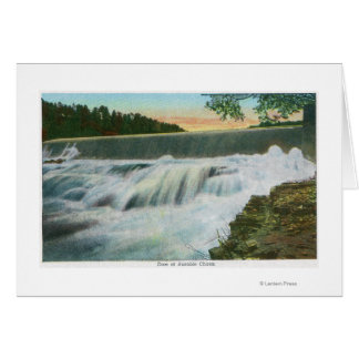 View of Dam at Ausable Chasm Greeting Card
