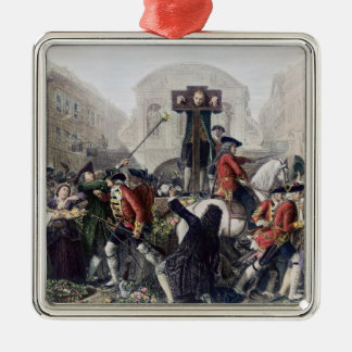 View of Daniel Defoe in the pillory at Temple Bar Christmas Ornament