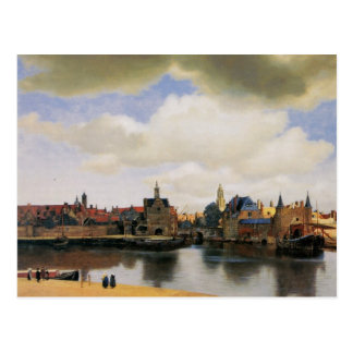 View of Delft by Johannes Vermeer Postcard