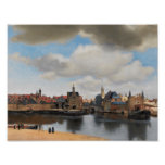 View of Delft, by Johannes Vermeer Poster