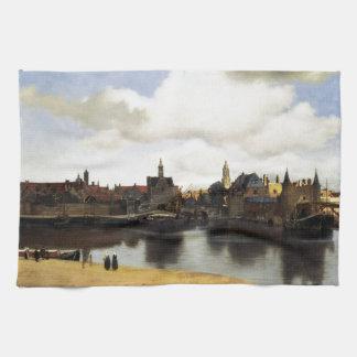 View of Delft by Johannes Vermeer Tea Towel