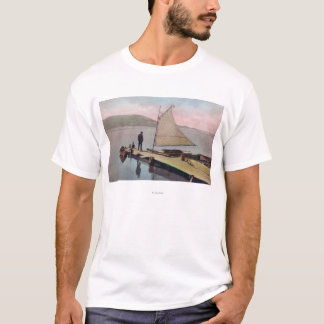 View of Docked Sailboat at Utah LakeProvo, UT T-Shirt