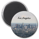 View of Downtown Los Angeles 6 Cm Round Magnet