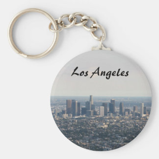 View of Downtown, Los Angeles Basic Round Button Key Ring