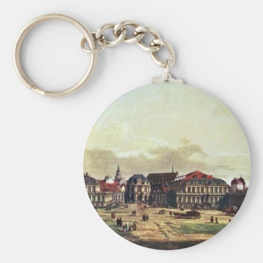 View Of Dresden Zwinger In Dresden Key Chains